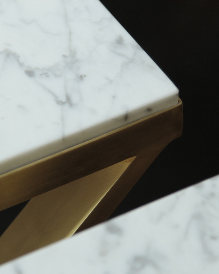 Brass & Marble Coffeetable